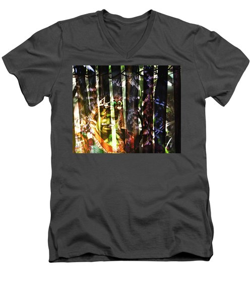 Caged Men's V-Neck T-Shirt