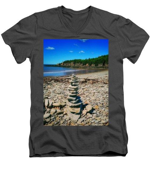 Cairn In Eastern Canada Men's V-Neck T-Shirt