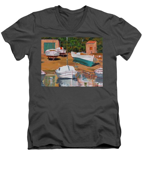 Cala Figuera Boatyard - II Men's V-Neck T-Shirt