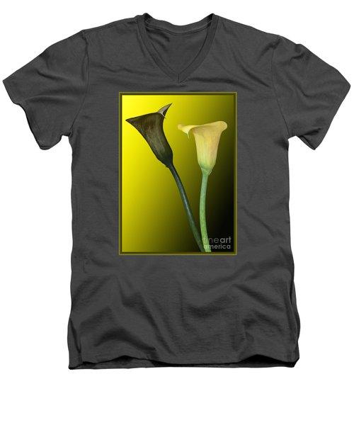 Cala Lilies Opposites Men's V-Neck T-Shirt