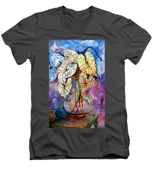 Caladium Glass Creation Men's V-Neck T-Shirt