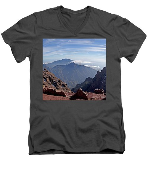 Caldera De Taburiente-1 Men's V-Neck T-Shirt