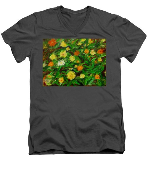 Calendula Men's V-Neck T-Shirt