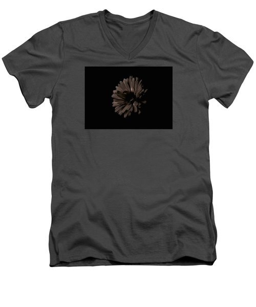 Calendula In Shadows Men's V-Neck T-Shirt by Tim Good