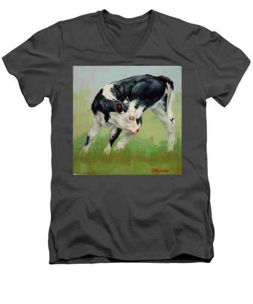 Calf Contortions Men's V-Neck T-Shirt by Margaret Stockdale
