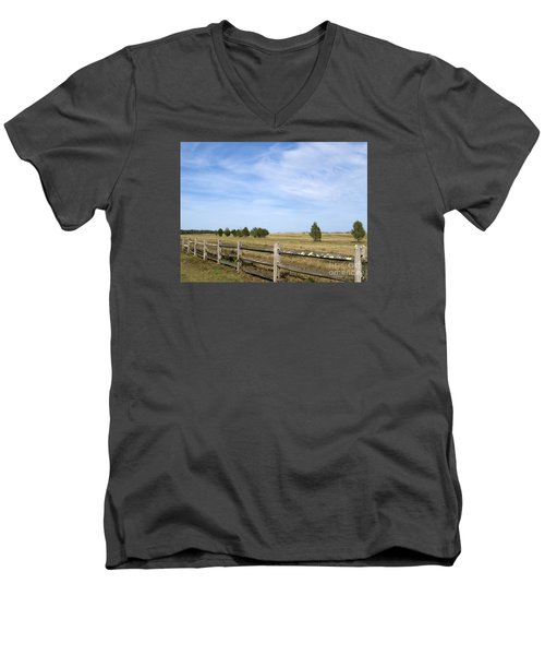 Calf Pasturepoint Men's V-Neck T-Shirt