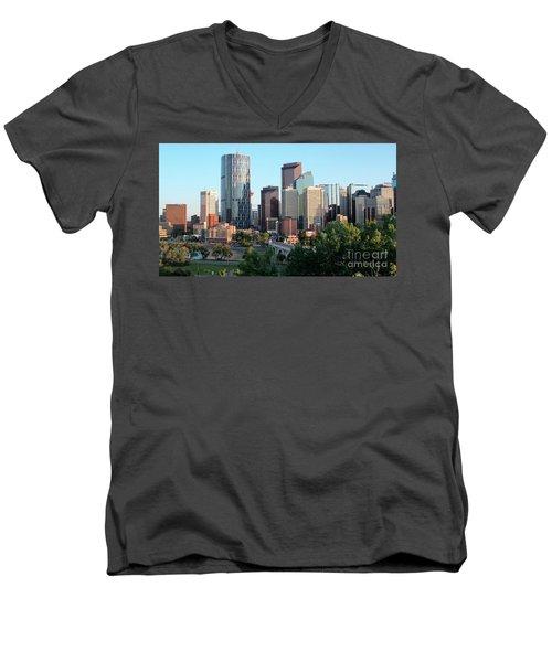 Calgary 2 Men's V-Neck T-Shirt by Victor K