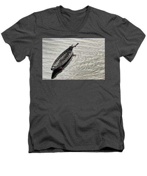 Calgary Dragon Boat Men's V-Neck T-Shirt by Brad Allen Fine Art