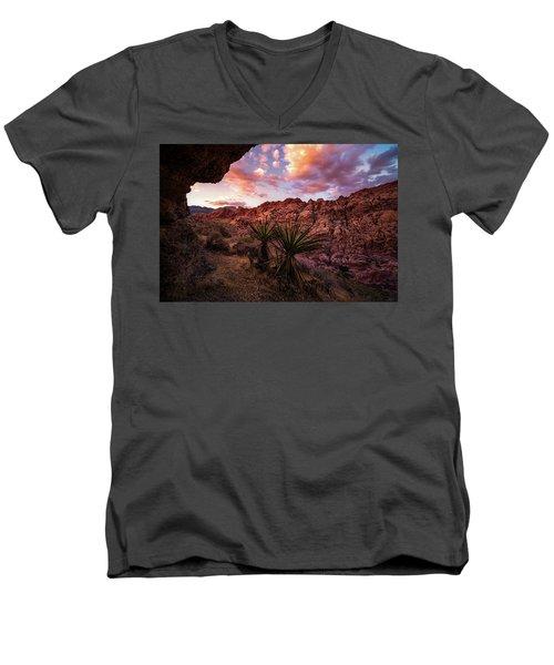 Calico Sunset Men's V-Neck T-Shirt by Bjorn Burton