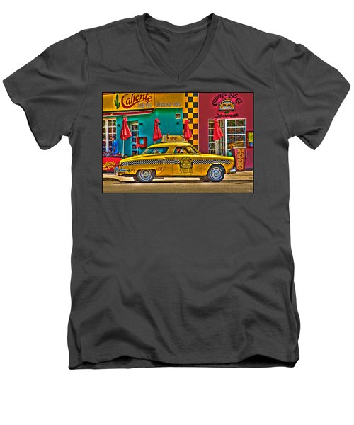 Caliente Cab Co Men's V-Neck T-Shirt