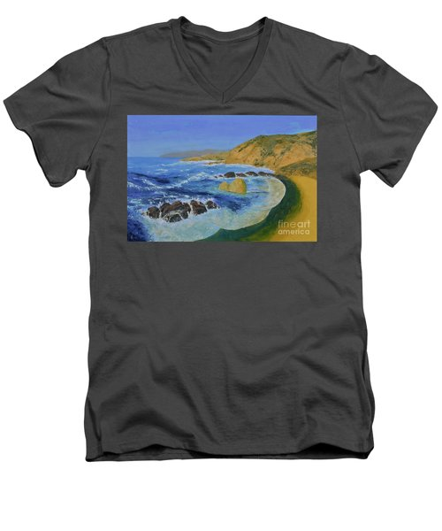 Calif. Coast Men's V-Neck T-Shirt