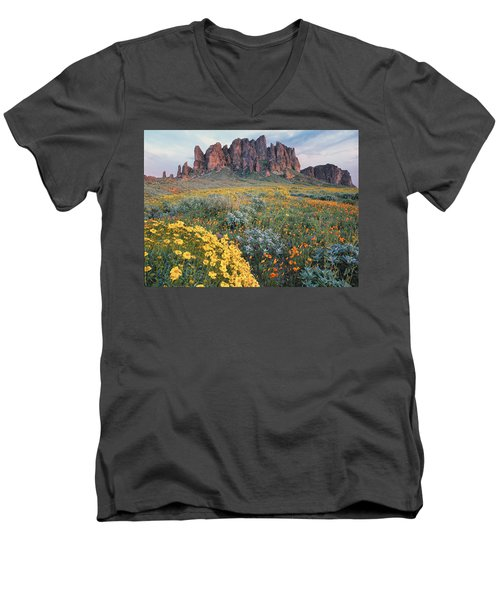 California Brittlebush Lost Dutchman Men's V-Neck T-Shirt