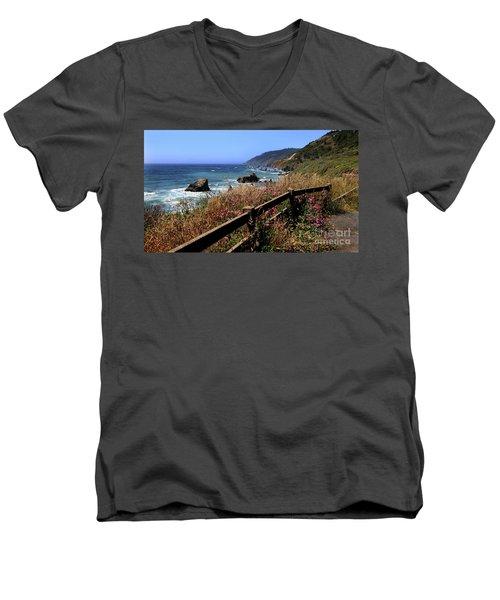 Men's V-Neck T-Shirt featuring the photograph California Coast by Joseph G Holland