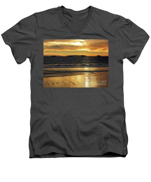 California Gold Men's V-Neck T-Shirt by Everette McMahan jr