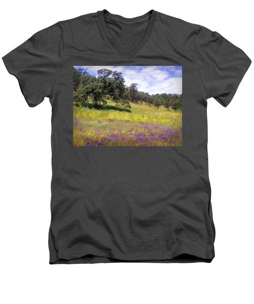 California Hills Men's V-Neck T-Shirt