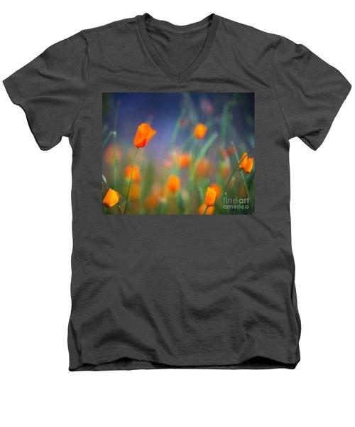 California Poppies 2 Men's V-Neck T-Shirt