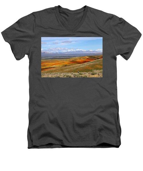California Poppy Reserve Men's V-Neck T-Shirt