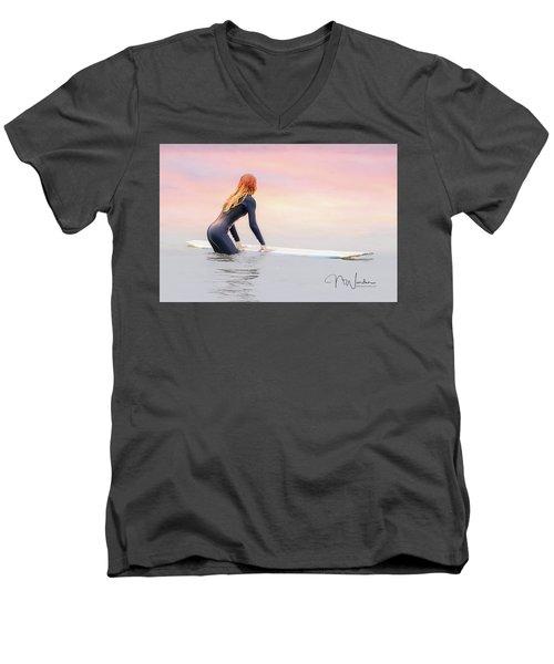 California Surfer Girl I Men's V-Neck T-Shirt