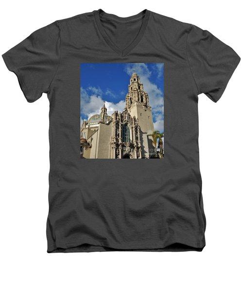 California Tower 2010 Men's V-Neck T-Shirt by Jasna Gopic