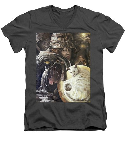 Call To The Spirits Men's V-Neck T-Shirt