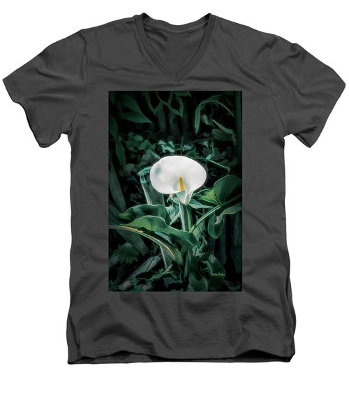 Calla Lily Men's V-Neck T-Shirt