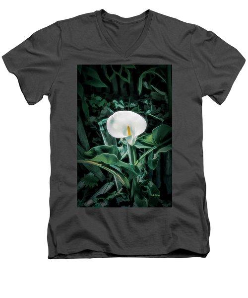 Calla Lily Men's V-Neck T-Shirt