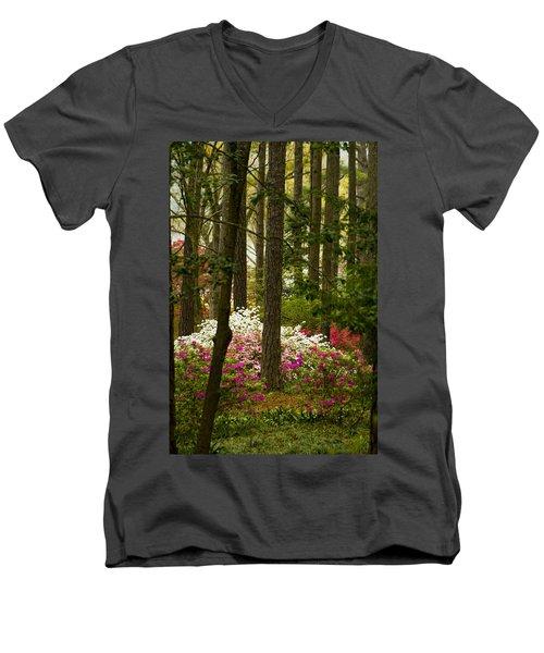Callaway Gardens Spring Azaleas Men's V-Neck T-Shirt