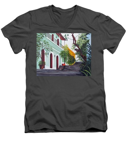 Callejon Del Hospital Men's V-Neck T-Shirt