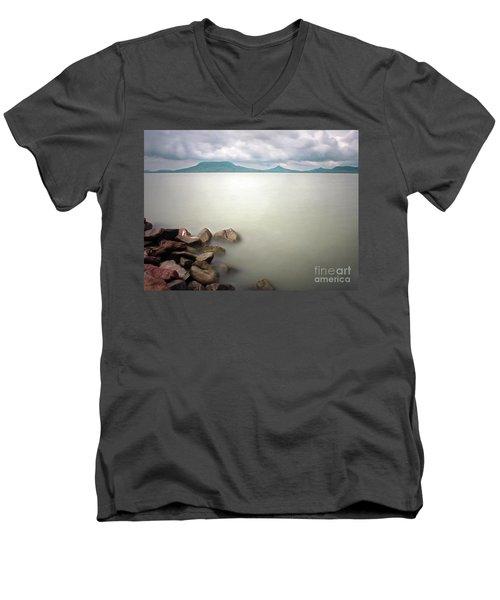 Calm At The Lake Men's V-Neck T-Shirt