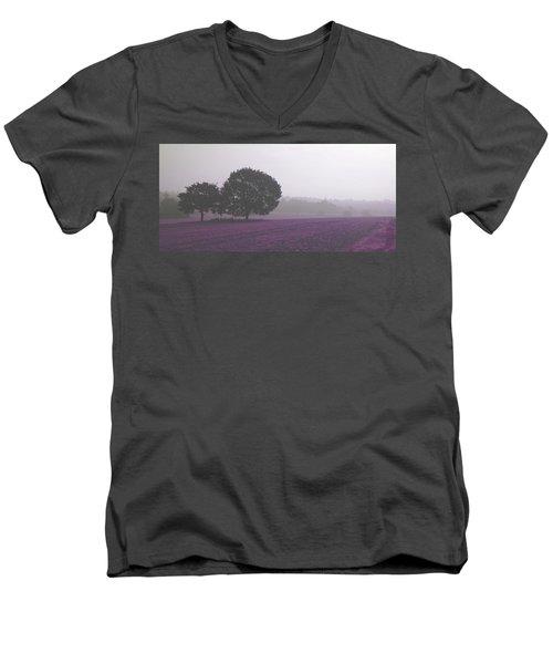 Calm Autumn Mist Men's V-Neck T-Shirt