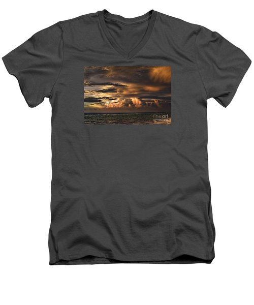 Men's V-Neck T-Shirt featuring the photograph Calm Before The Storm by Judy Wolinsky
