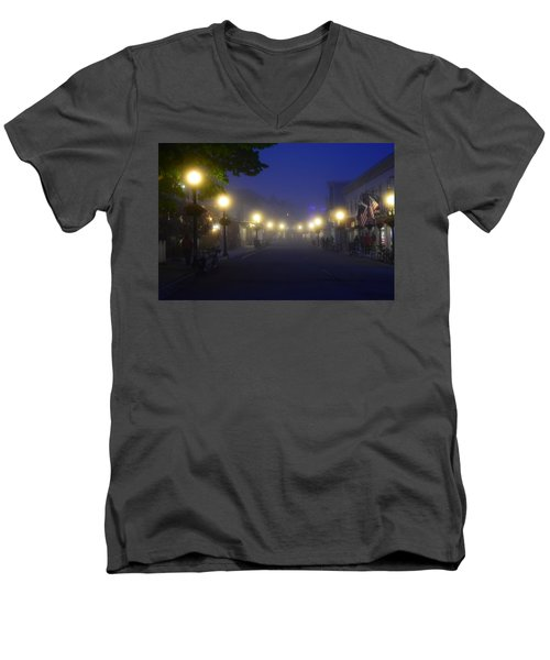 Calm In The Streets Men's V-Neck T-Shirt