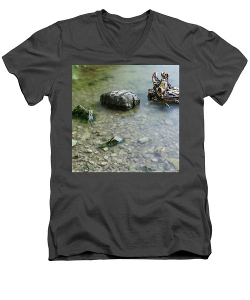 Calm Lake Men's V-Neck T-Shirt