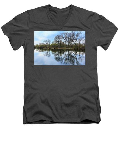 Calm Waters At Wayne Woods Men's V-Neck T-Shirt