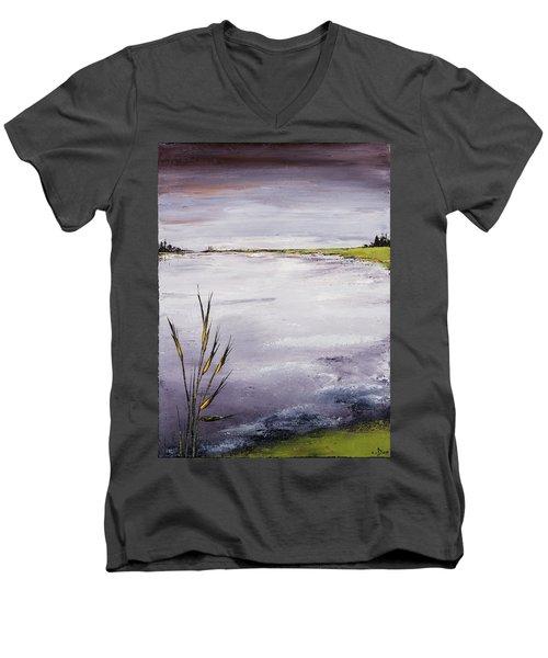 Calmer Water Men's V-Neck T-Shirt by Carolyn Doe
