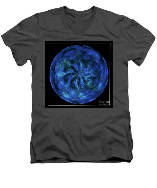 Calming Blue Orb Men's V-Neck T-Shirt