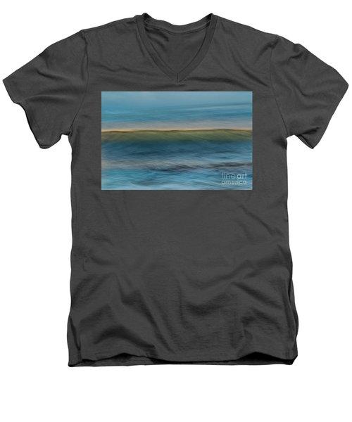 Calming Blue Men's V-Neck T-Shirt