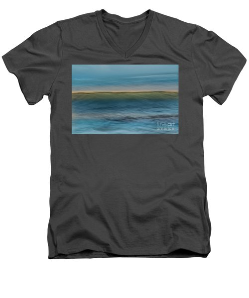 Calming Blue Men's V-Neck T-Shirt