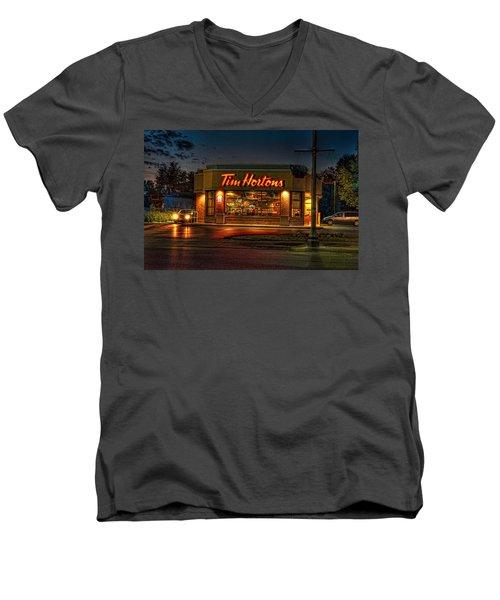 Calories And Caffene Men's V-Neck T-Shirt