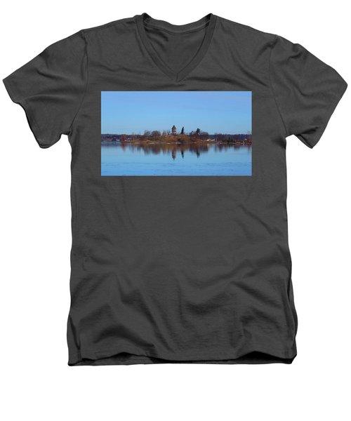 Calumet Island Reflections Men's V-Neck T-Shirt