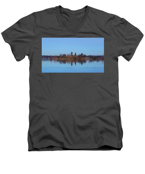 Calumet Island Reflections Men's V-Neck T-Shirt