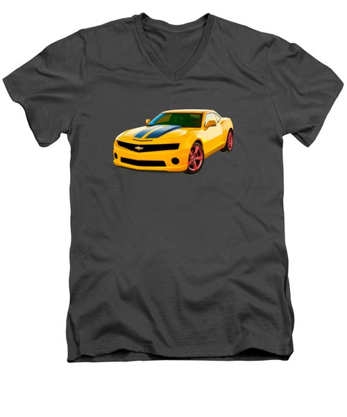 Camaro 2015 - 5th Generation Chevy Camaro Men's V-Neck T-Shirt