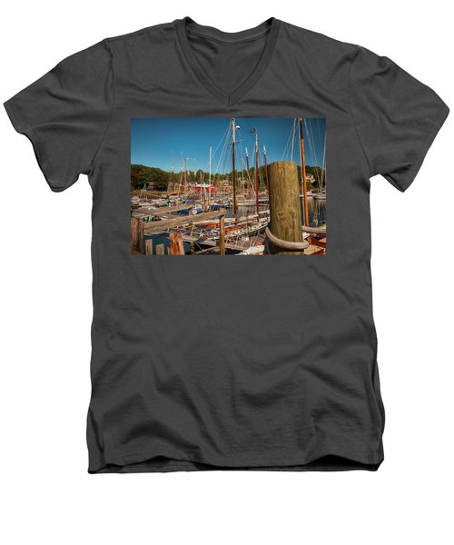 Camden Harbor Men's V-Neck T-Shirt