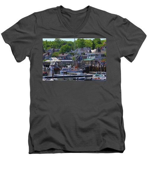Camden Village Maine Men's V-Neck T-Shirt