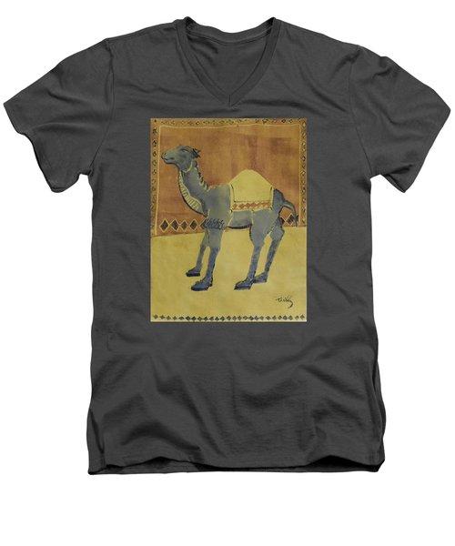 Camel With Diamonds Men's V-Neck T-Shirt