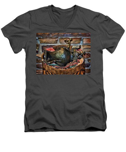 Men's V-Neck T-Shirt featuring the photograph Camelback 8846 by Sylvia Thornton