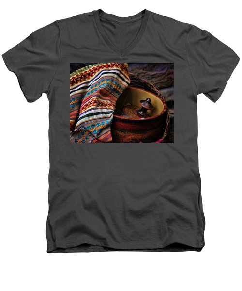 Men's V-Neck T-Shirt featuring the photograph Camelback 8851 by Sylvia Thornton