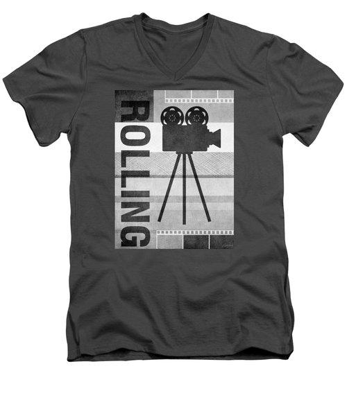 Cameras Rolling- Art By Linda Woods Men's V-Neck T-Shirt
