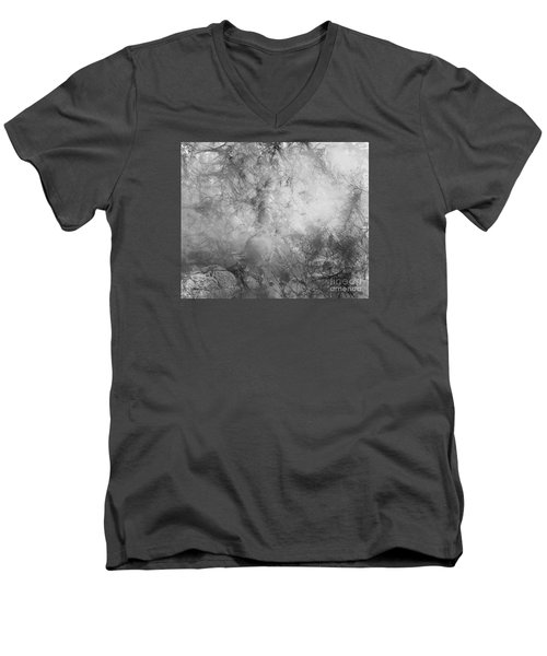 Men's V-Neck T-Shirt featuring the painting Camouflage by Trilby Cole