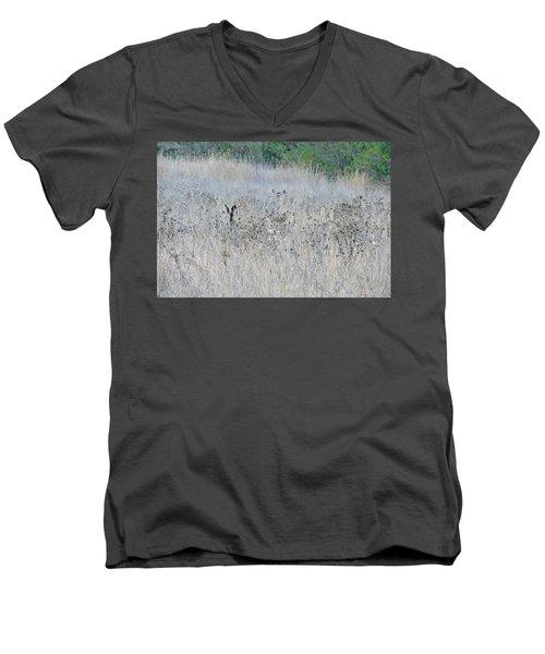 Camouflaged Men's V-Neck T-Shirt